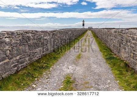 Road To Lighthouse  In Inisheer Island