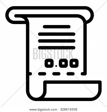 Bankrupt Receipt Icon. Outline Bankrupt Receipt Vector Icon For Web Design Isolated On White Backgro