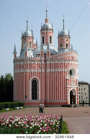 Chesmensky cathedral. St.Petersburg