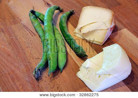 Pecorino with fava beans