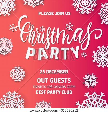 Merry Christmas Party Vector Photo Free Trial Bigstock
