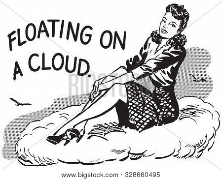 Floating On A Cloud - A Very Happy Woman
