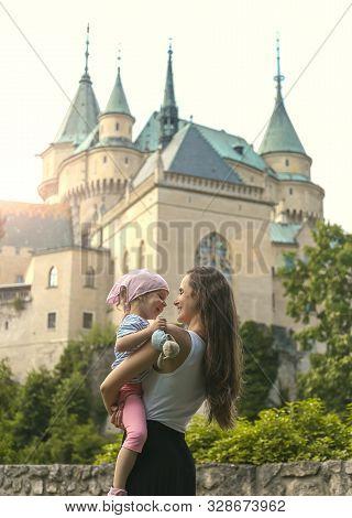 Medieval Castle Bojnice, Central Europe, Slovakia, Summer