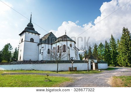 Early-gothic Church Of The Virgin Mary In Village Pribylina In Liptov Region (slovakia)