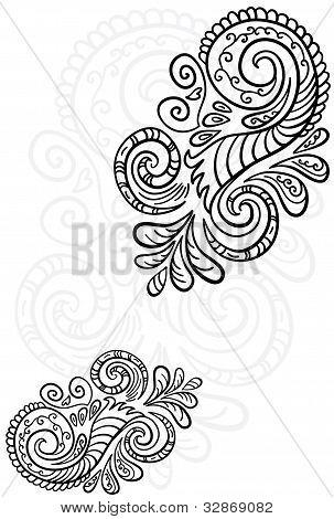 Scroll pattern.