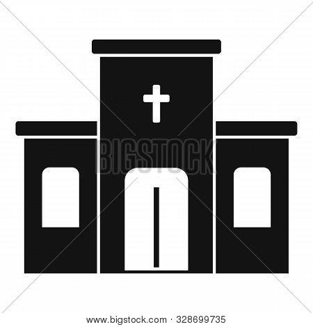 Catholic Church Icon. Simple Illustration Of Catholic Church Vector Icon For Web Design Isolated On