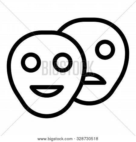 Bipolar Disorder Icon. Outline Bipolar Disorder Vector Icon For Web Design Isolated On White Backgro