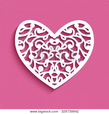 Curly Lace Heart, Cutting Template