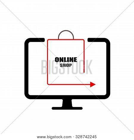 Online Shop, Online Store Logo. Logotype For Business. Vector Illustration.
