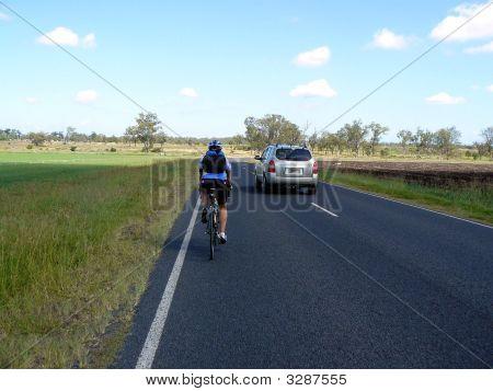 Bike Overtaken By Car