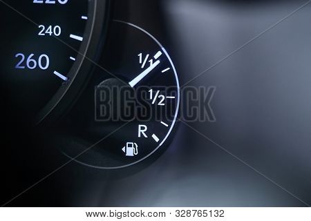 Fuel indicator of a car going down