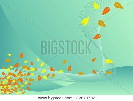 Swirling leaves background