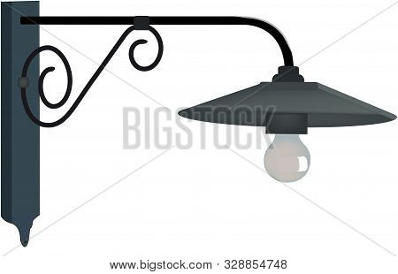Outdoor Lamp Post In Wrought Iron Outdoor Lamp Post In Wrought Iron