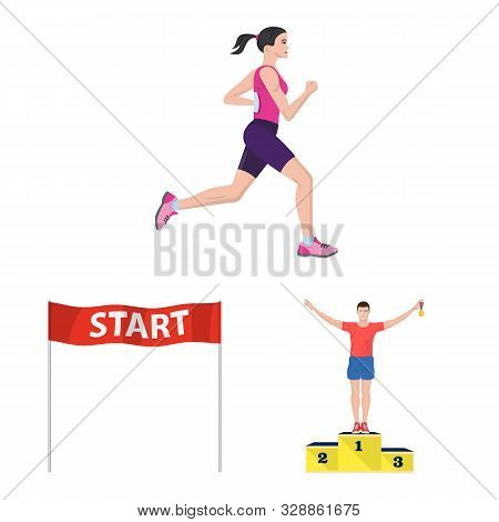Isolated Object Of Step And Sprint Symbol. Collection Of Step And Sprinter Stock Symbol For Web.