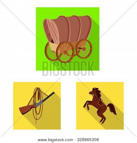 Vector design of texas and history symbol. Set of texas and culture stock symbol for web. poster
