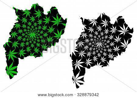 Chiang Rai Province (kingdom Of Thailand, Siam, Provinces Of Thailand) Map Is Designed Cannabis Leaf