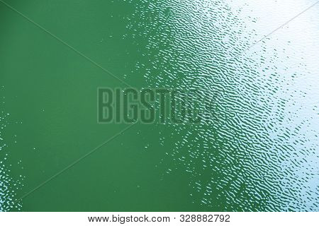 Geen Water Surface With Ripples For Backgrounds