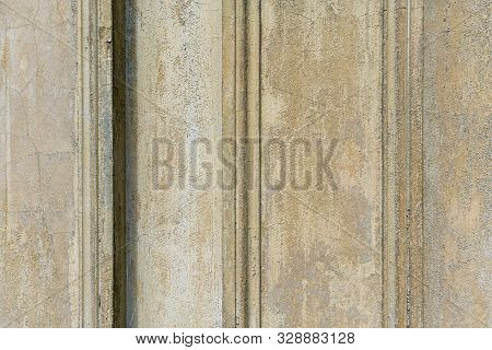 Detail Of A Wall With Peeling Paint For Backgrounds
