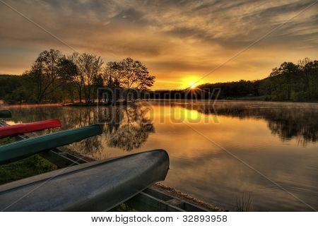 Canoe Sunrise