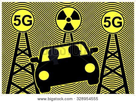 5g Radiation And Autonomous Driving. The Exposure To Radiofrequencies Harms The Human Health While G