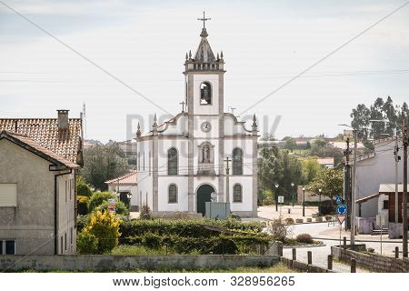 Architecture Detail Of St. John The Baptist Church Of Vila Cha In Portugal