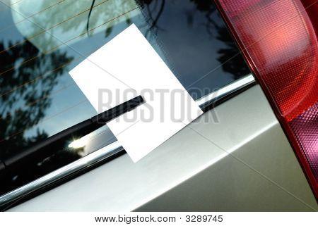Leaflet Behind Car Wiper