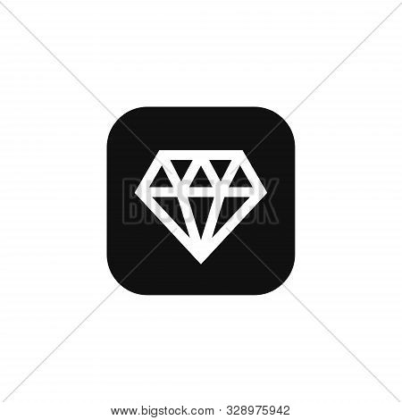 Diamond Icon. Diamond Icon Vector Flat Illustration For Graphic And Web Design Isolated On White Bac