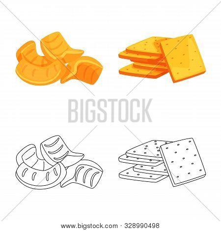 Vector Illustration Of Oktoberfest And Bar Icon. Set Of Oktoberfest And Cooking Vector Icon For Stoc