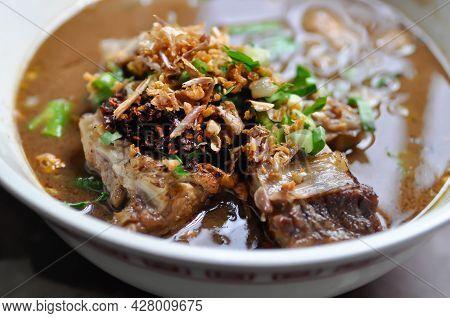 Noodles, Chinese Noodles Or Beef Noodles Or Beef Soup