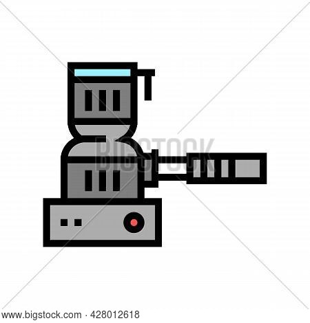 Hookah Coal Burner Color Icon Vector. Hookah Coal Burner Sign. Isolated Symbol Illustration
