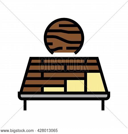 Wooden Roof Color Icon Vector. Wooden Roof Sign. Isolated Symbol Illustration