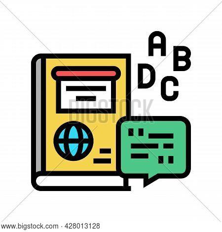 English School Lesson Color Icon Vector. English School Lesson Sign. Isolated Symbol Illustration