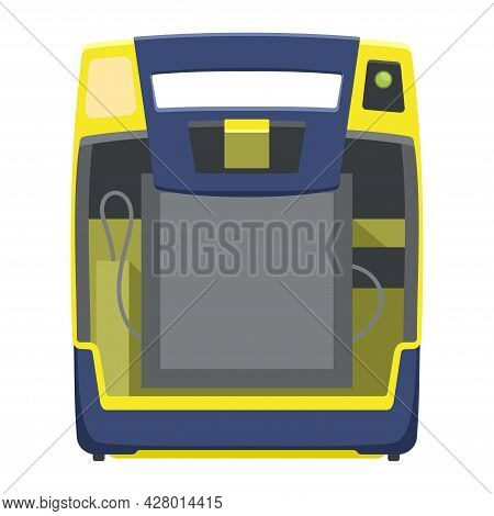 Aed Flat Icon. Automated External Defibrillator Device - Isolated Medical Equipment. Vector Illustra