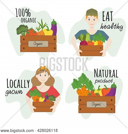 The Concept Of Healthy And Proper Nutrition. Buy And Eat Local Organic Products. Harvest Market. Eco