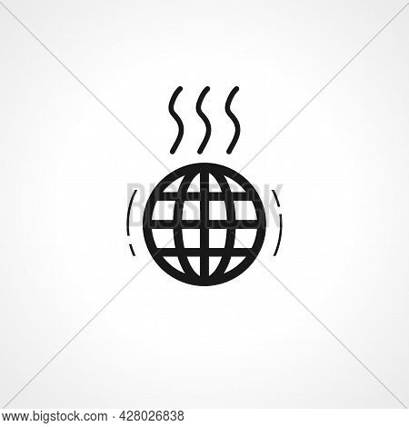 Greenhouse Effect Icon. Global Warming Simple Vector Icon. Global Warming Isolated Icon.