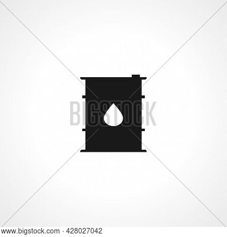 Oil Drum Container Icon. Barrel With Oil Sign Icon. Oil Drum Container Simple Vector Icon. Oil Drum