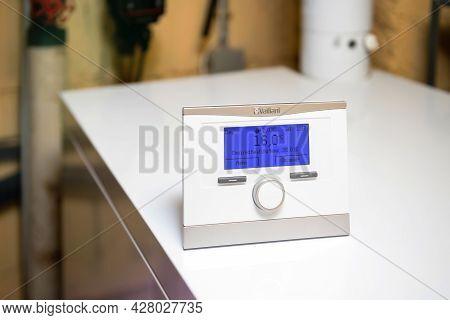 London, United Kingdom - Apr 7, 2021: New Vaillant Vrc 700 Heating Control Complete Intelligent Cont