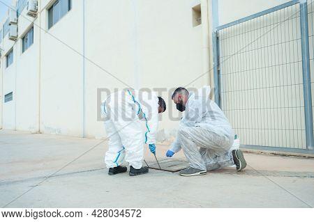 Fumigator Sanitizing, Cleaning And Disinfection. Coronavirus Pandemic Professional Control.
