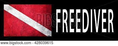 Freediver, Diver Down Flag, Scuba Flag, Scuba Diving