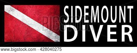 Sidemount Diver, Diver Down Flag, Scuba Flag, Scuba Diving