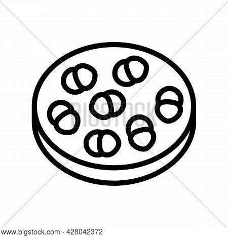 Enterococcus Infection Line Icon Vector. Enterococcus Infection Sign. Isolated Contour Symbol Black
