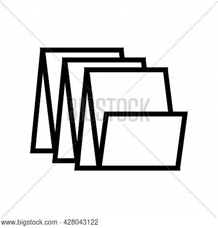 Floor Tiles Line Icon Vector. Floor Tiles Sign. Isolated Contour Symbol Black Illustration