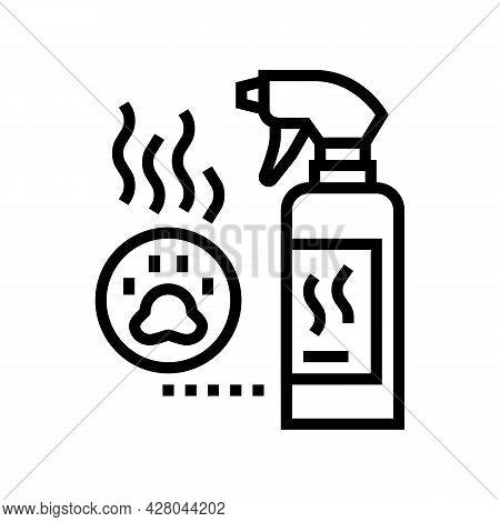 Odor Neutralizer Line Icon Vector. Odor Neutralizer Sign. Isolated Contour Symbol Black Illustration