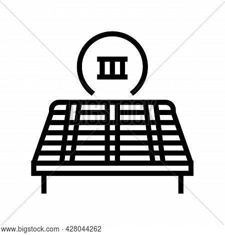 Third Stage Of Roof Replacement Line Icon Vector. Third Stage Of Roof Replacement Sign. Isolated Con