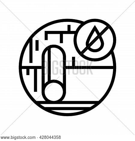 Roof Underlayment Line Icon Vector. Roof Underlayment Sign. Isolated Contour Symbol Black Illustrati