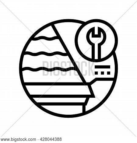 Starter Strips Line Icon Vector. Starter Strips Sign. Isolated Contour Symbol Black Illustration