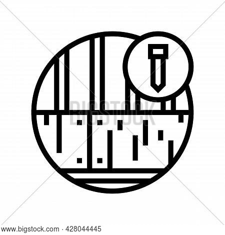 Roof Deck Line Icon Vector. Roof Deck Sign. Isolated Contour Symbol Black Illustration