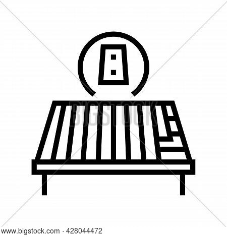 Metal Roof Line Icon Vector. Metal Roof Sign. Isolated Contour Symbol Black Illustration