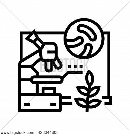 Biology School Lesson Line Icon Vector. Biology School Lesson Sign. Isolated Contour Symbol Black Il