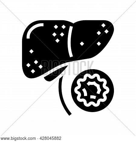 Hepatitis B Glyph Icon Vector. Hepatitis B Sign. Isolated Contour Symbol Black Illustration